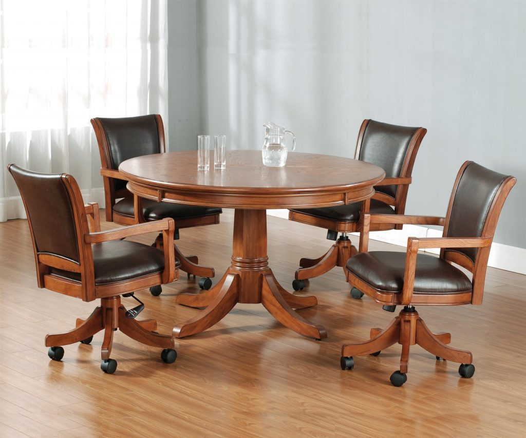 Round Flip Top Gamingdining Table Hillsdale Wolf And Gardiner
