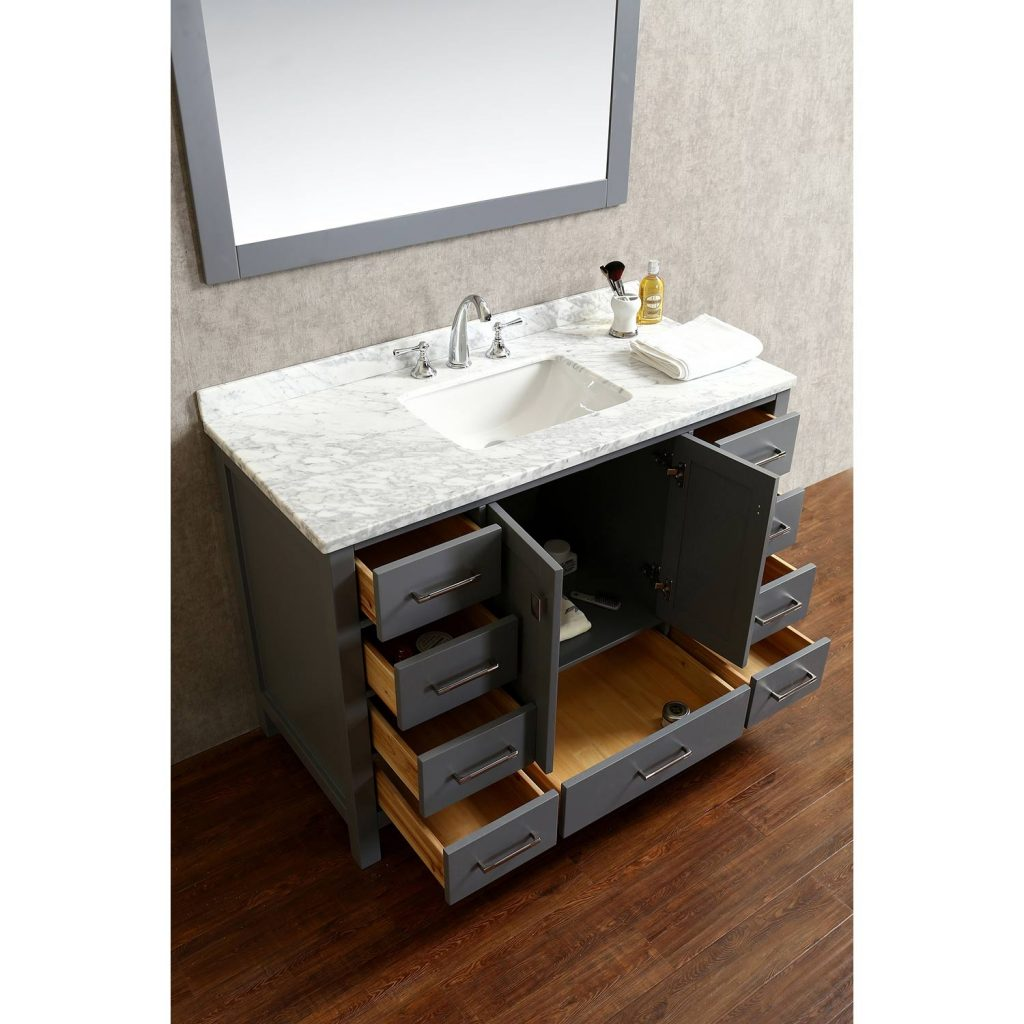 Sampler Solid Wood Bathroom Vanity From Fascinating Exterior Color