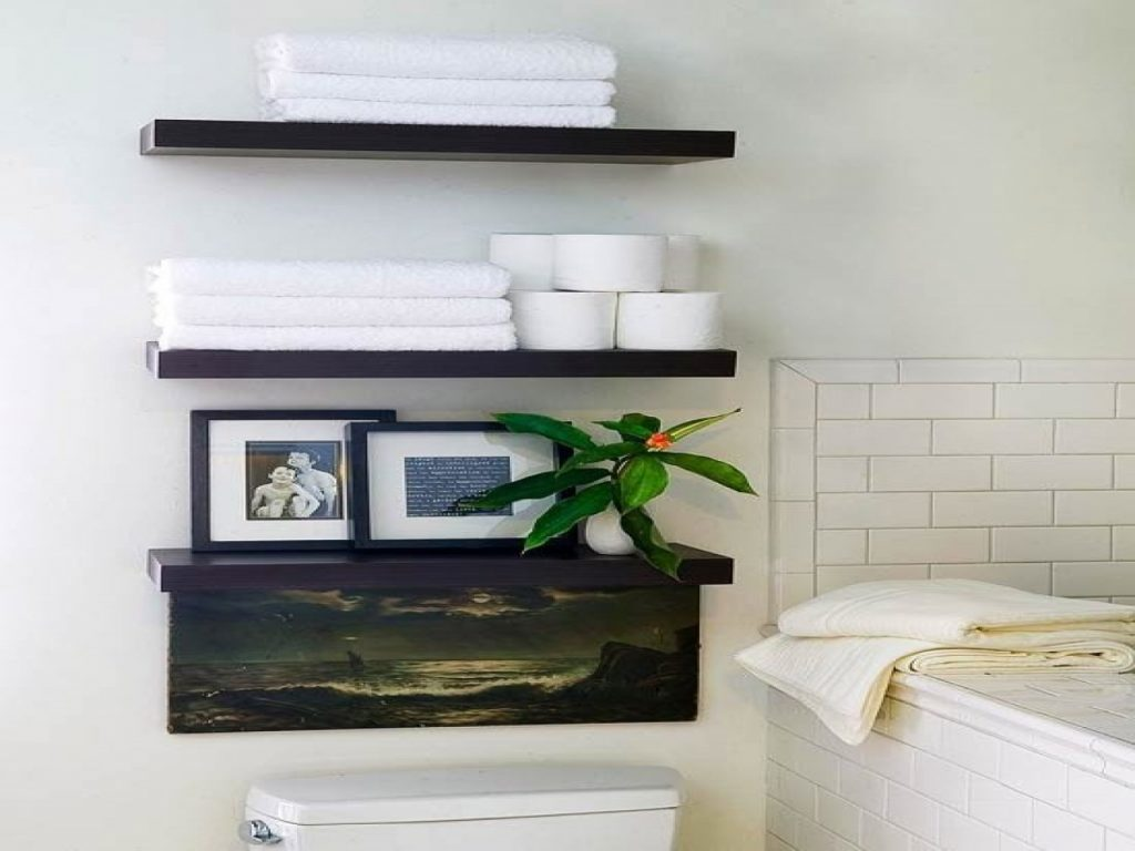 Shelves For Bathroom Wall Incredible Over The Toilet Shelving