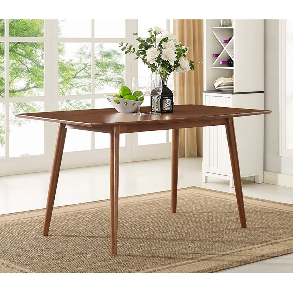 Shop 60 Inch Brown Mid Century Dining Table Free Shipping On