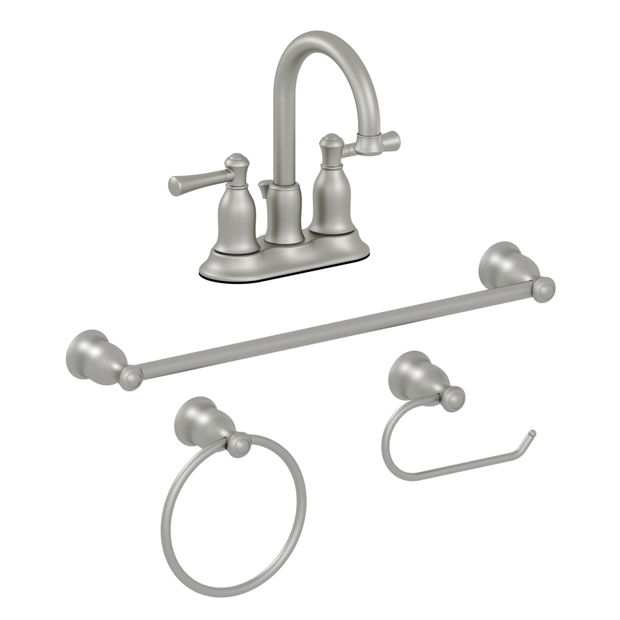 Shop Aquasource 4 Piece Brushed Nickel Pvd Decorative Bathroom