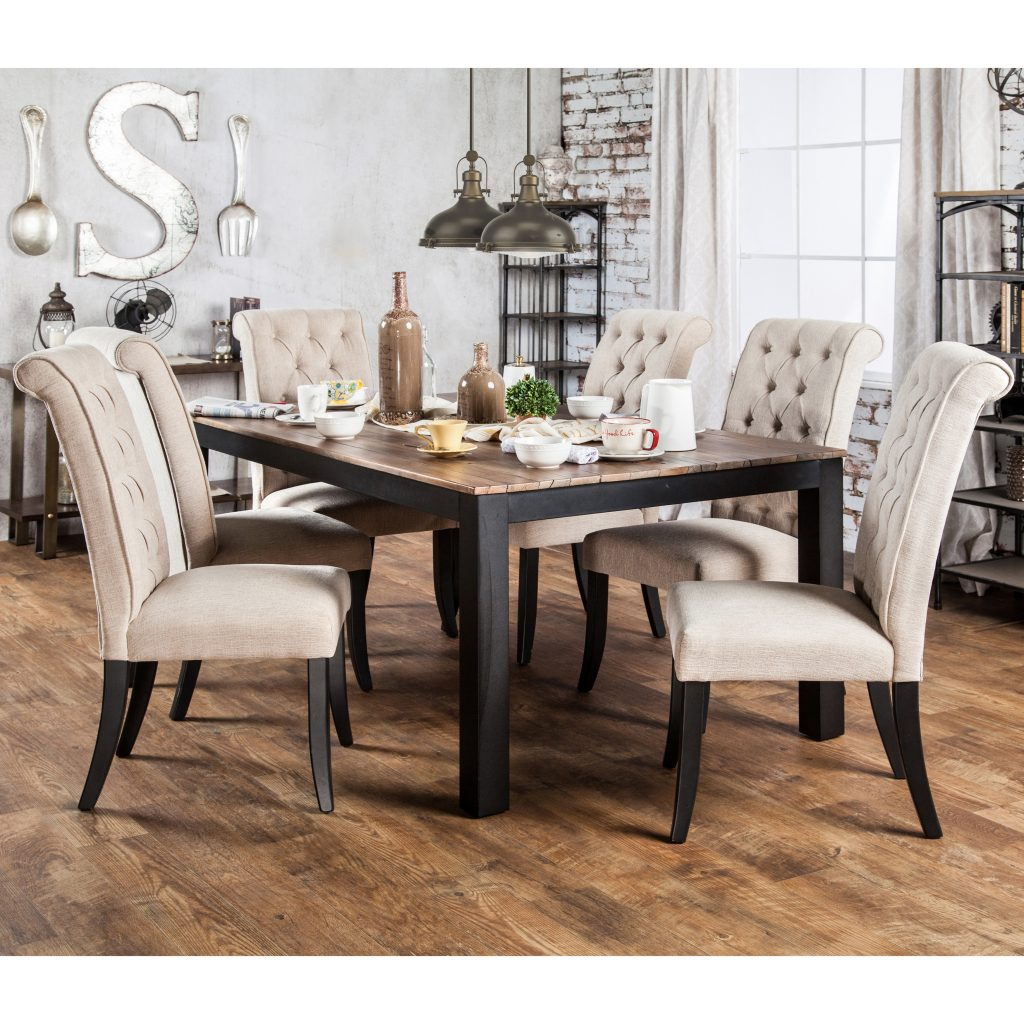 Shop Furniture Of America Sheila Rustic Two Tone Dining Table Free