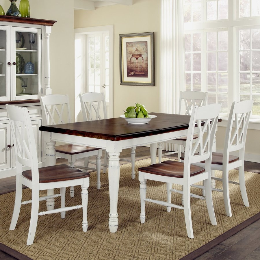 Shop Home Styles Monarch Whiteoak 7 Piece Dining Set With Dining