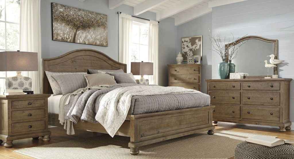 Signature Design Ashley Trishley Light Brown Panel Bedroom Set
