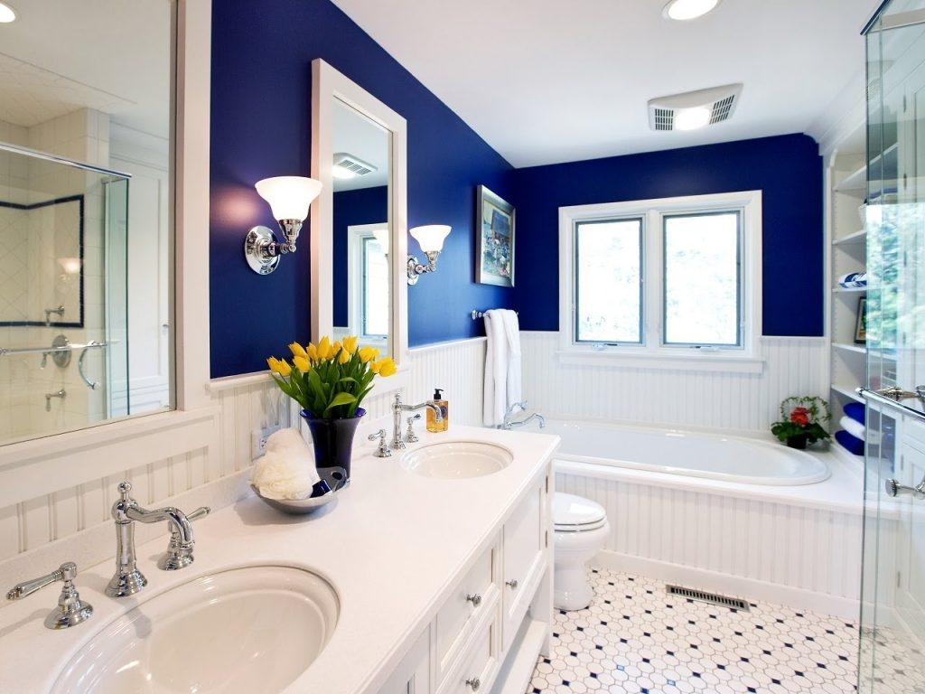 Simple Blue Bathroom Design Ideas Youtube