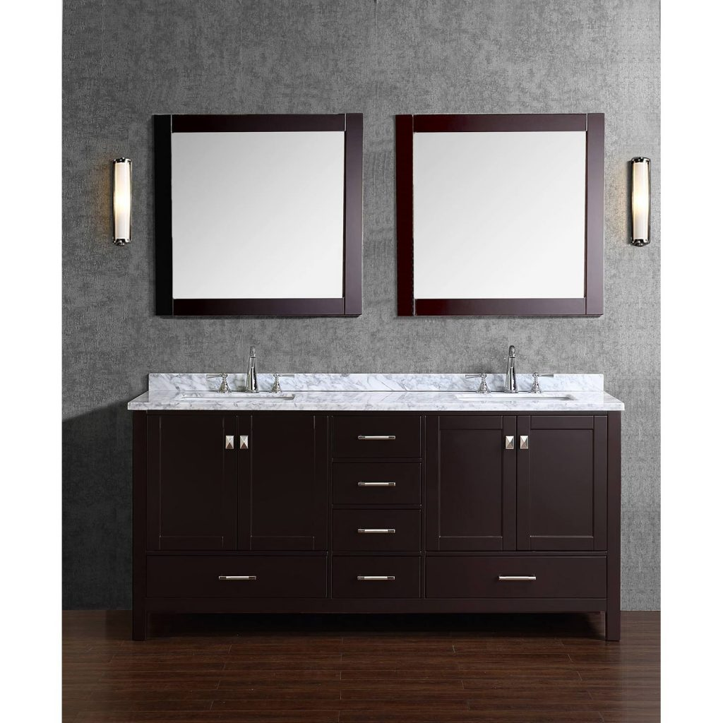 Simple Solid Wood Bathroom Vanity Buy Vincent 72 Inch Double In
