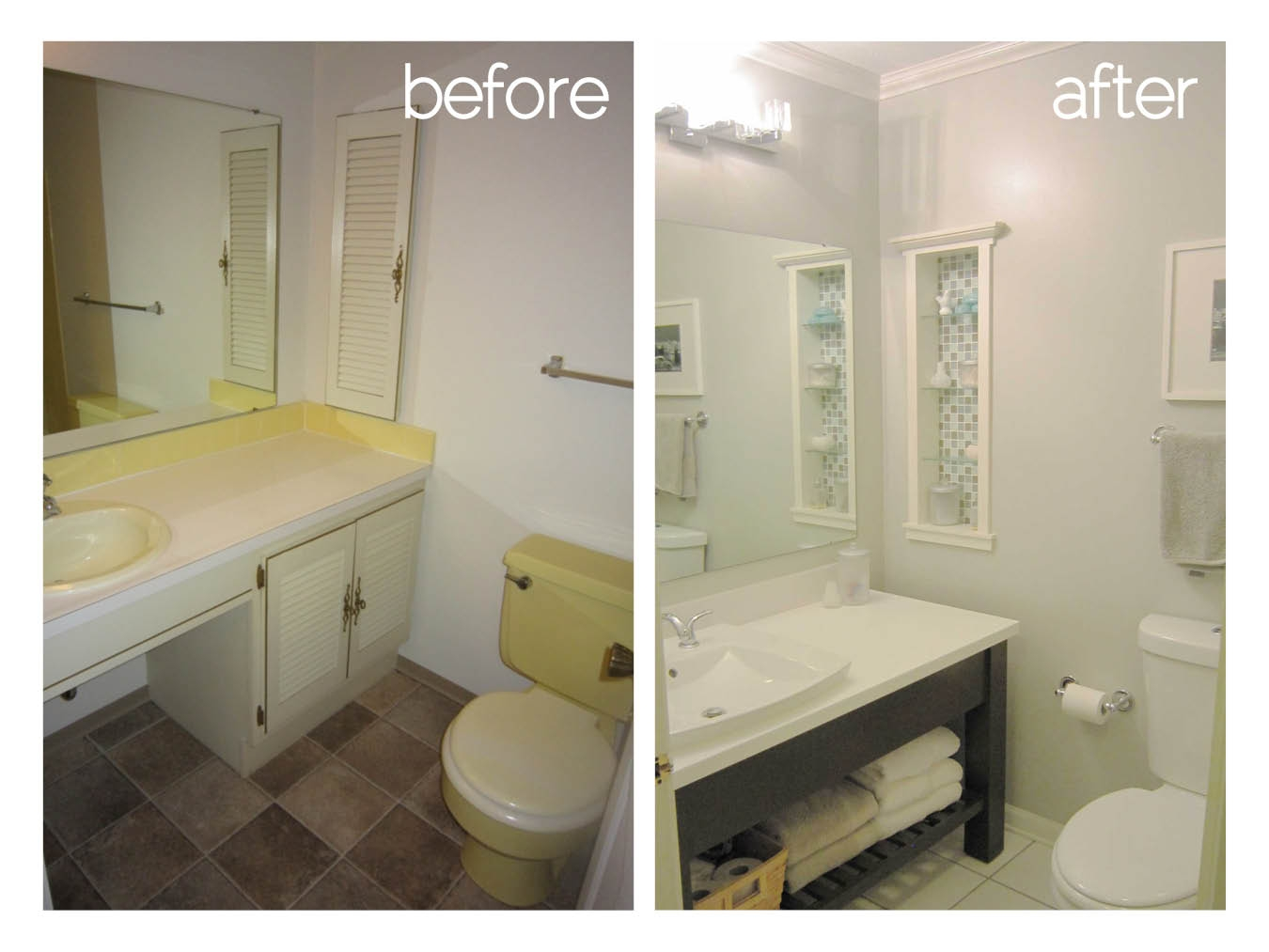 Small Bathroom Remodels Before And After Photos And Products Ideas Layjao