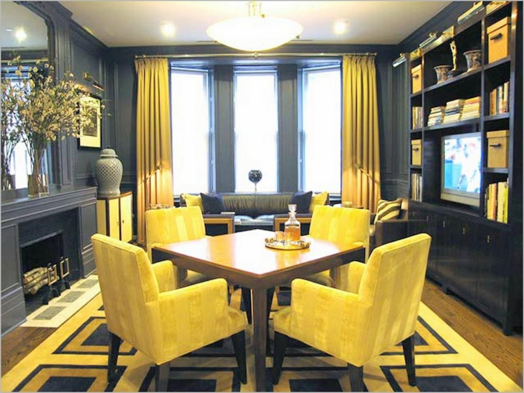Small Dining Room Remodeling Ideas With Warm Color Schemes And