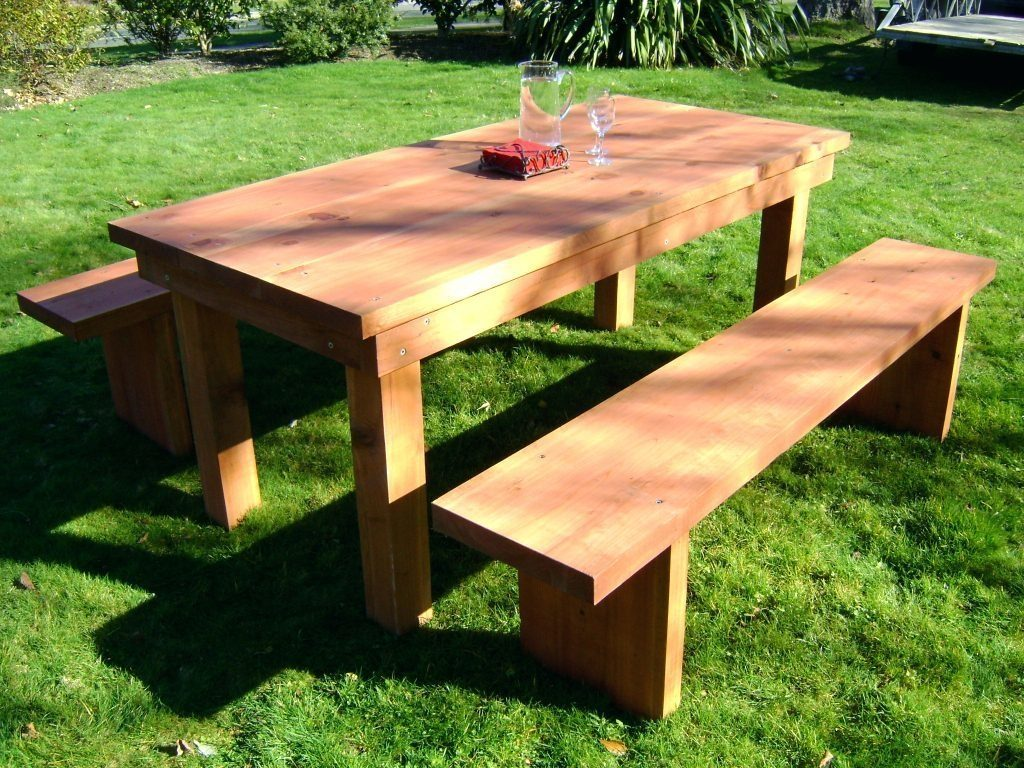 Solid Wooden Outdoor Furniture Wooden Patio Table And Benches Jvshf