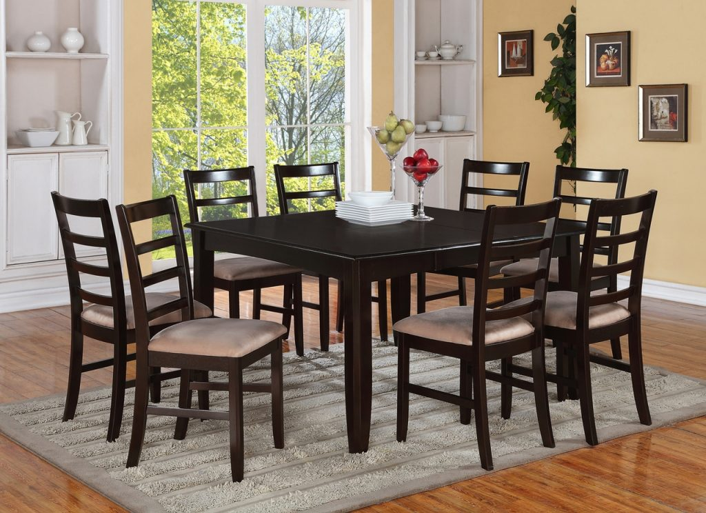 Square Dining Room Table For 8 Contemporary With Photos Of Square