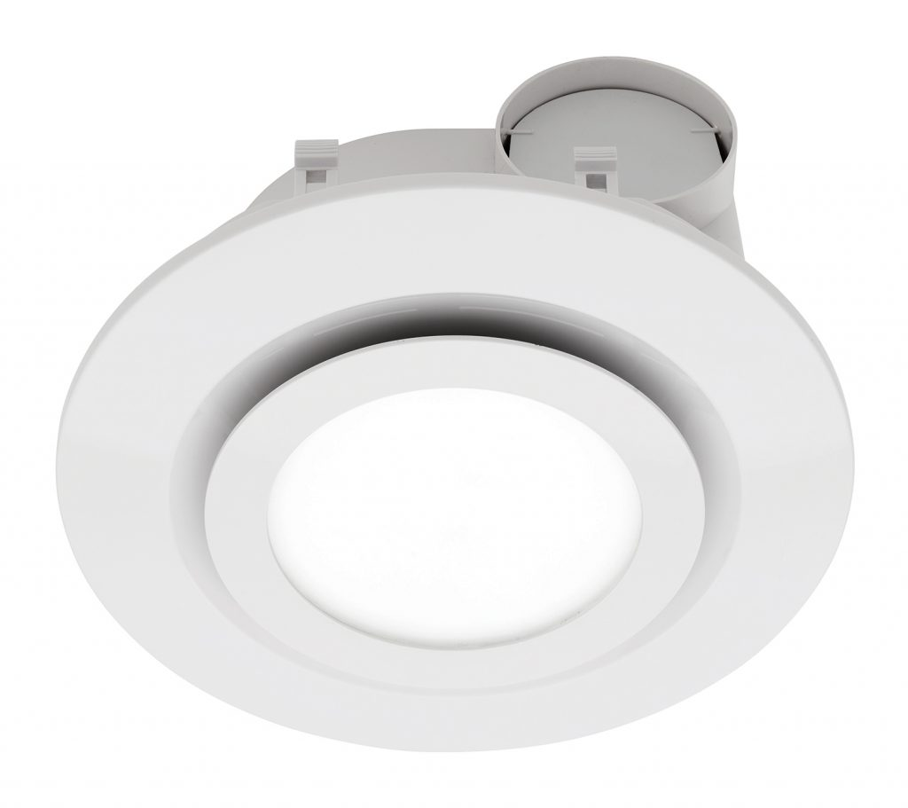 Starline Led Round Exhaust Fan With Light White Be190espwh