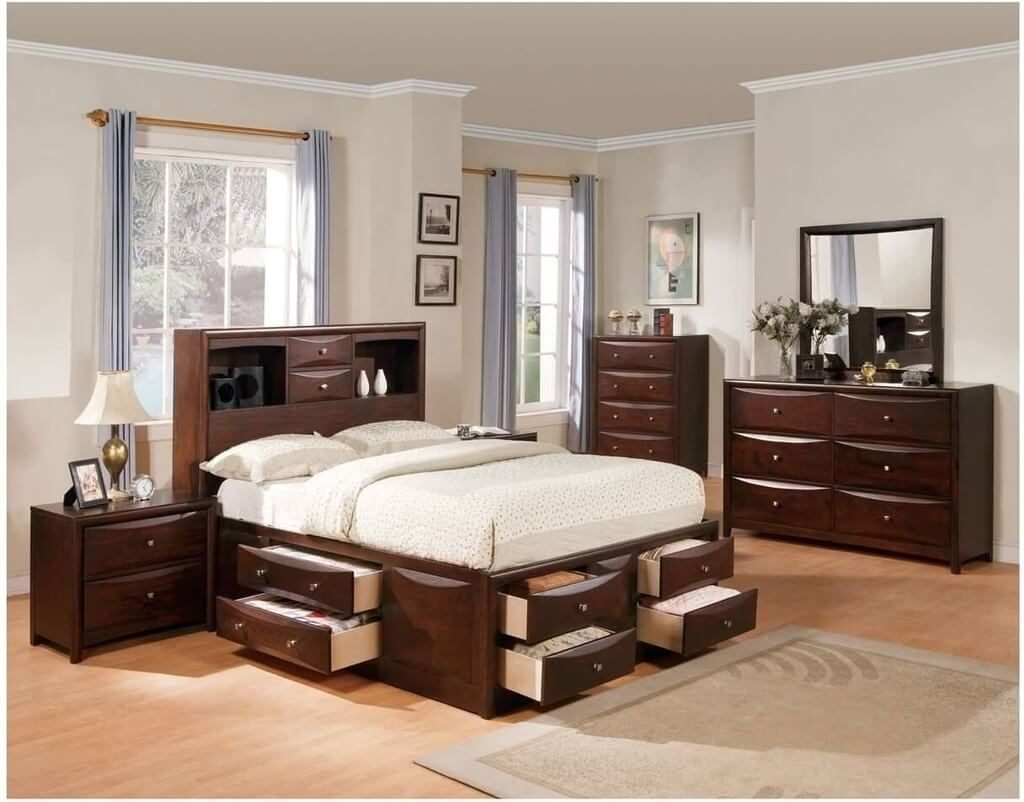 Stunning Queen Bedroom Sets With Vanity Mirror Sleigh Havertys