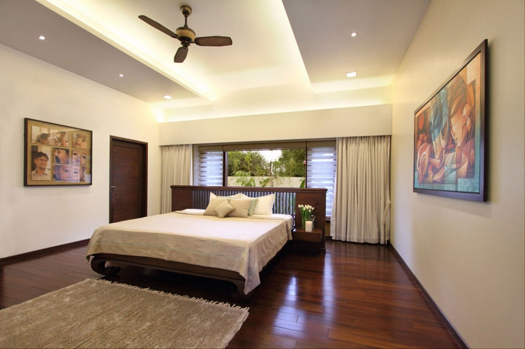 Stylish Ceiling Fans For Cool Bedroom Decorating With Recessed Layjao