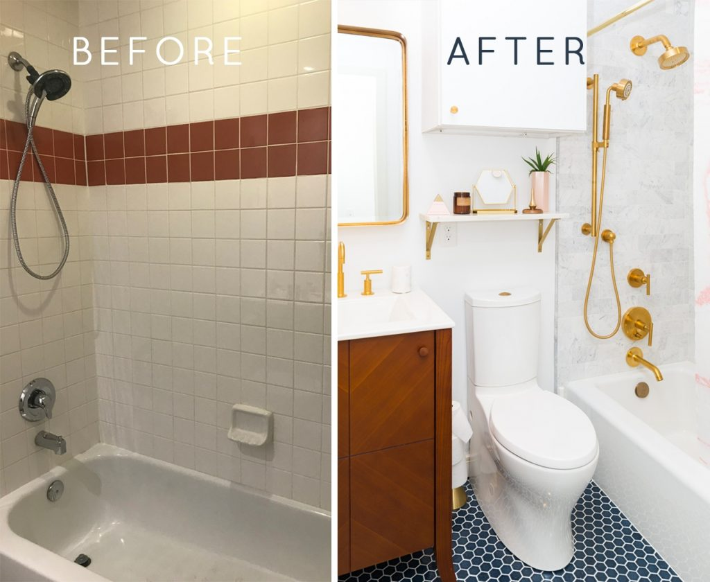Sugar Cloth Casa The Before After Of Our Guest Bathroom
