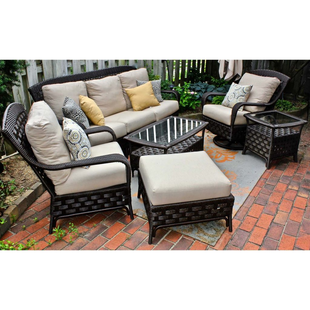 Sunbrella Outdoor All Weather Wicker Patio Furniture Set Fabric