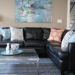 Sunroom Black Leather Couches Decorating Ideas Decorating