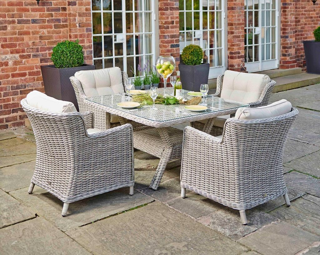 Supremo Eton Square 4 Seat Set Weave Garden Furniture Hayes With