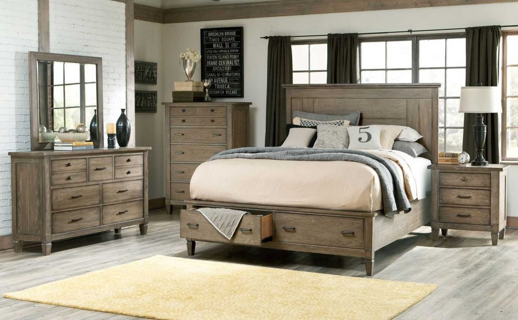 Table Attractive King Bedroom Furniture 2 Sets Rustic Size