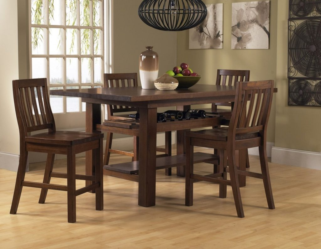 Tall Dining Room Sets New High Table Set Elegant Bench With Regard