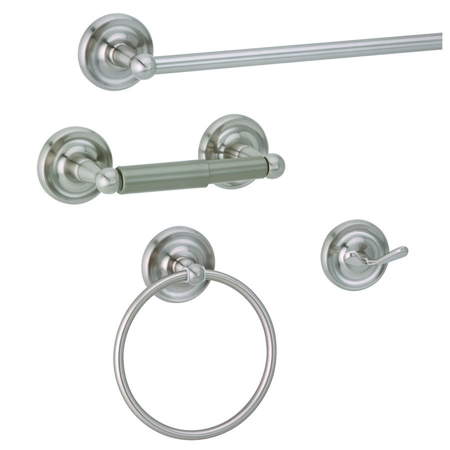 Taymor 4 Piece Orion Bath Satin Nickel Decorative Bathroom Hardware
