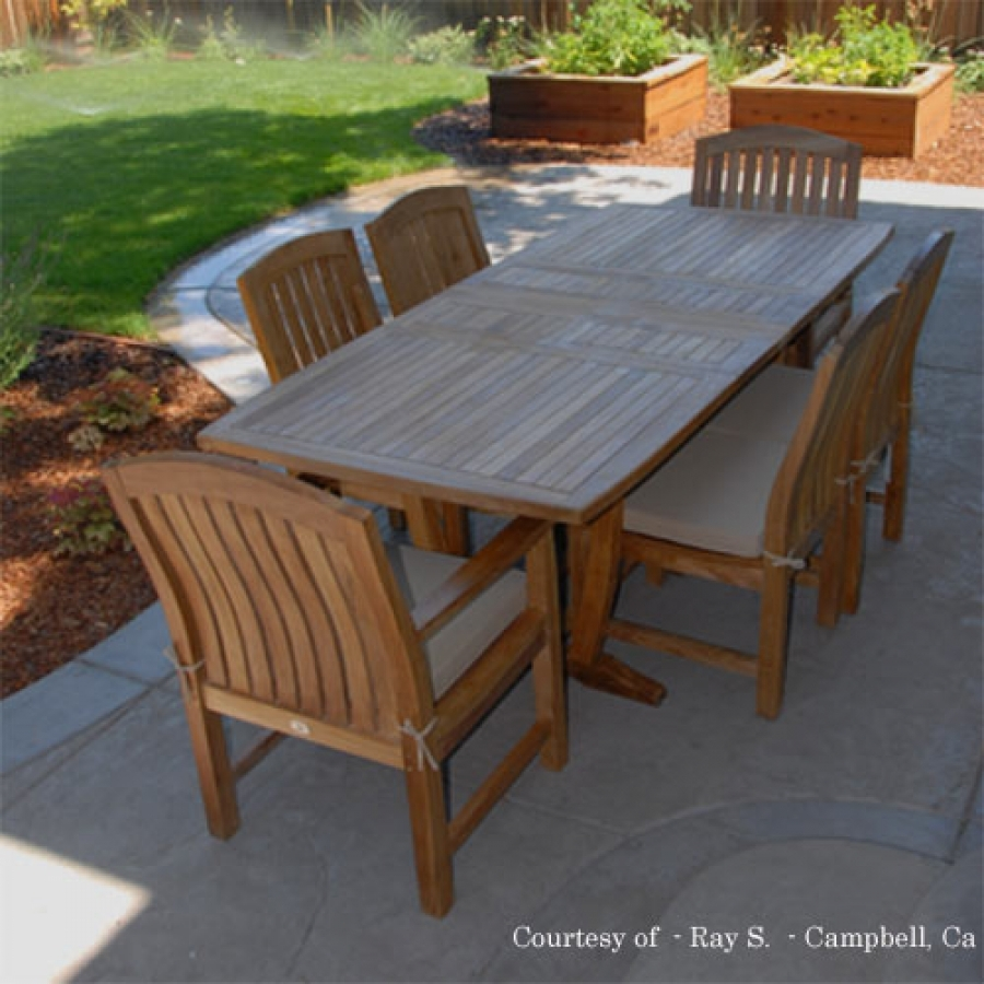 Teak Outdoor Patio Dining Set Agean Table Zaire Chair