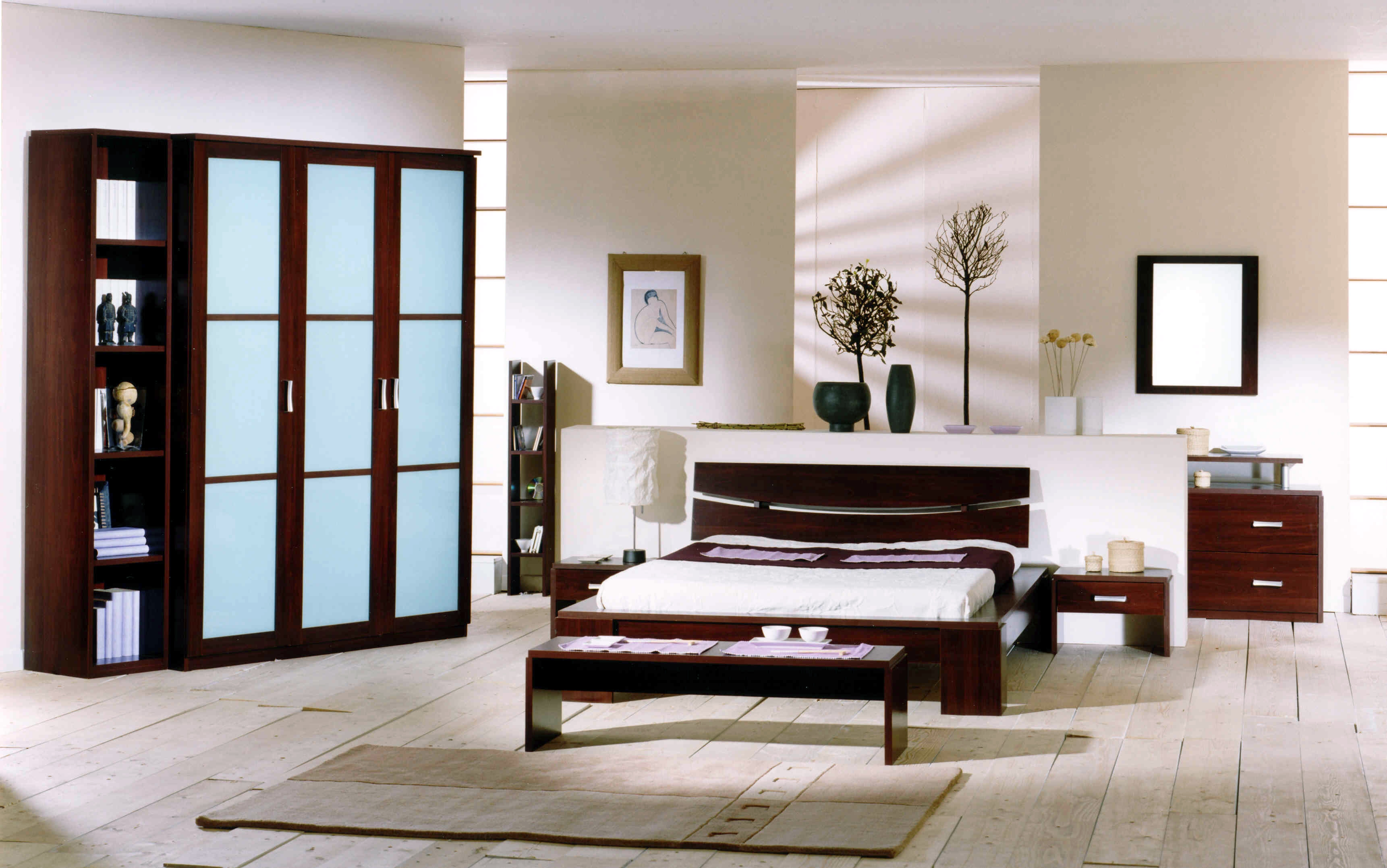 Terrific White Built In Bedroom Furniture With Fitted Wardrobe Layjao
