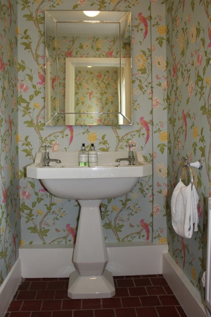 The 25 Best Small Bathroom Wallpaper Ideas On Pinterest Powder Fall