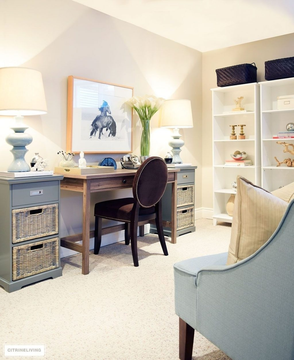 The Best Office Space In Living Room