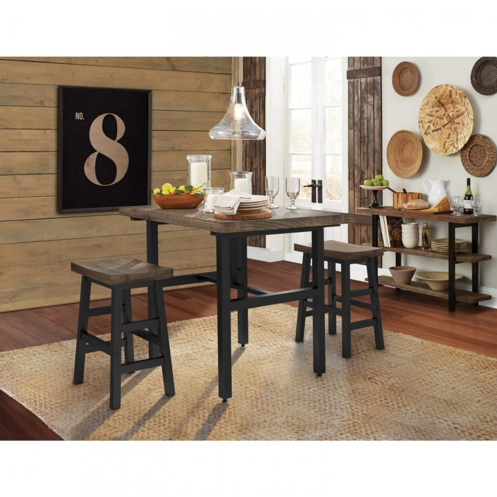 The Gray Barn Michaelis Reclaimed Wood Counter Height Dining Table
