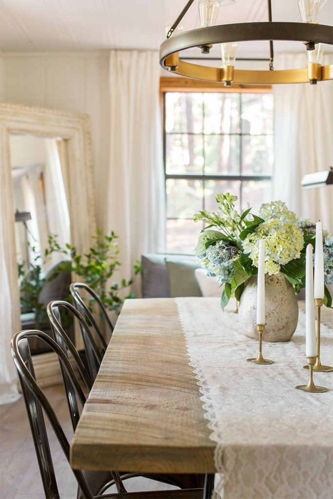 The Living Dining Room Cottage House Flip Reveal Room