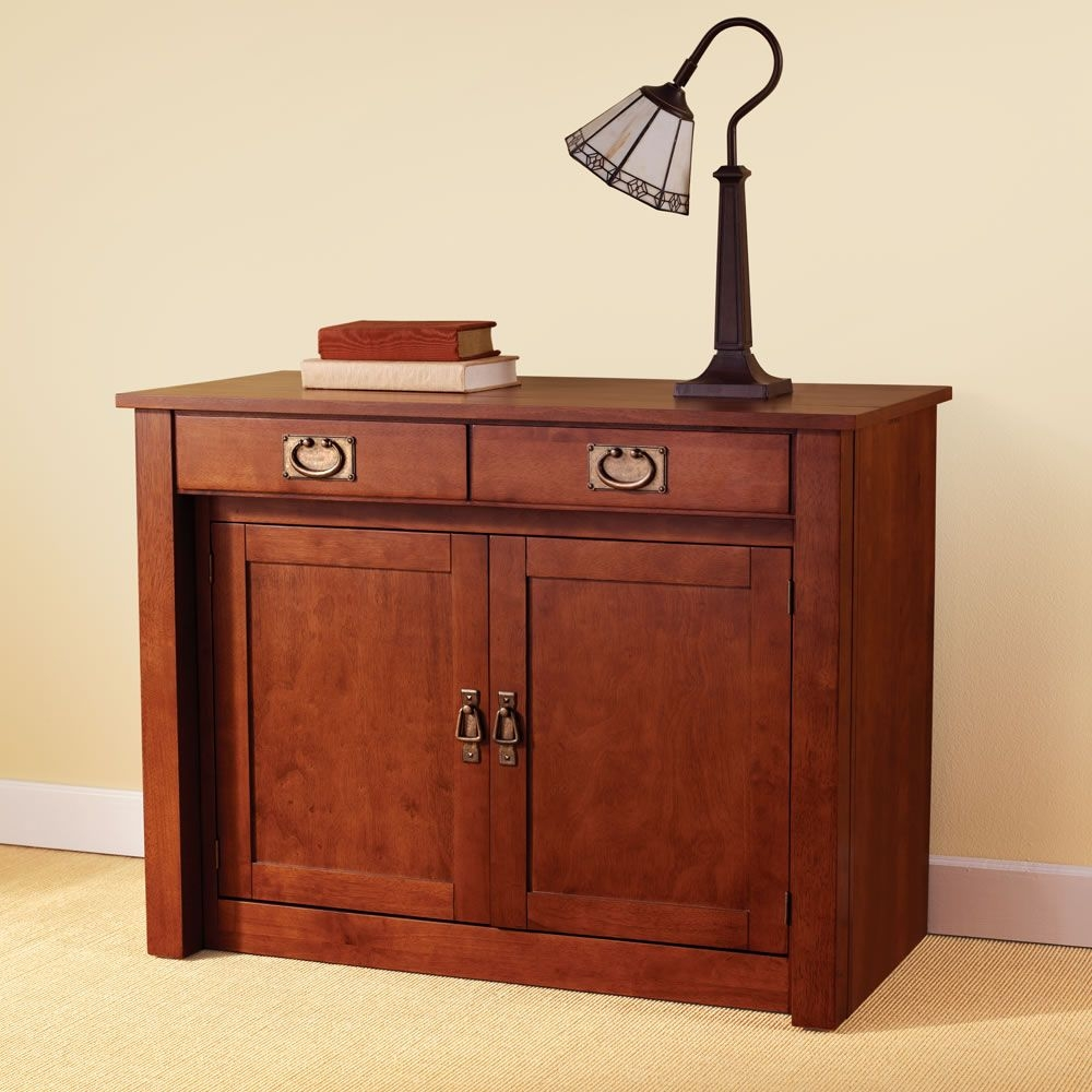 This Is The Hutch That Converts Into A Dining Table Large Enough To