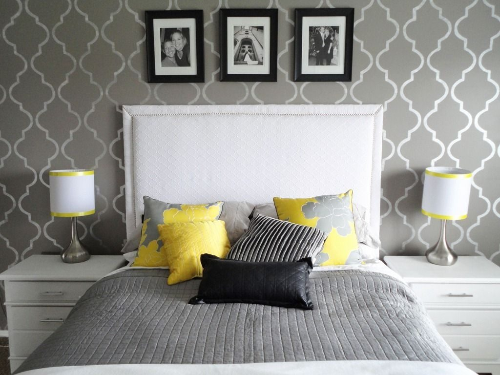 Totally Inspired Tuesday Mallory Gray Bedroom Yellow Ceiling