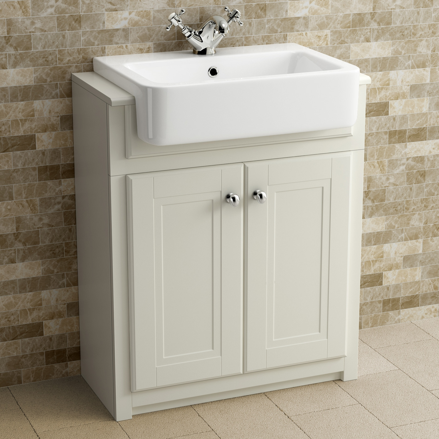 Basin Vanity Unit Clotted