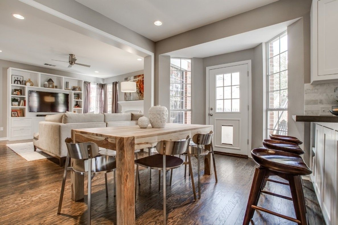 Transitional Dining Room Kitchen Family Remodel Layjao
