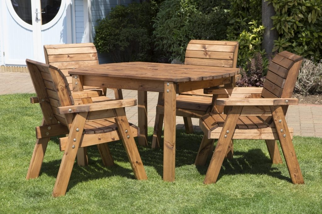 Uk Made Fully Assembled Heavy Duty Wooden Patio Garden Dining Set