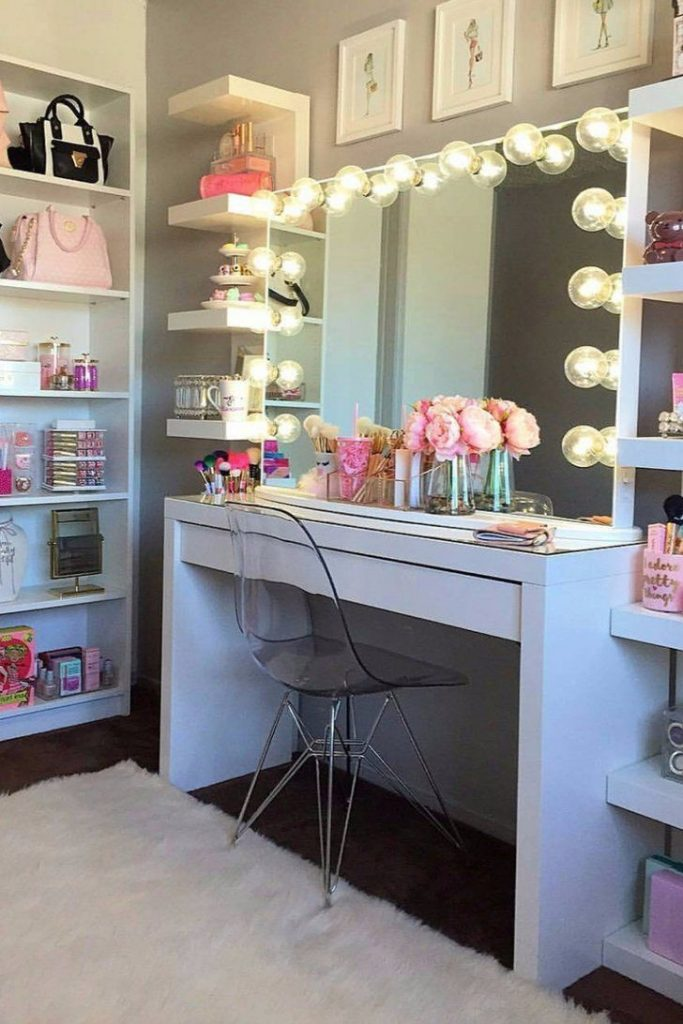 Uncategorized Bedroom Vanities With Lights For Makeup Vanity