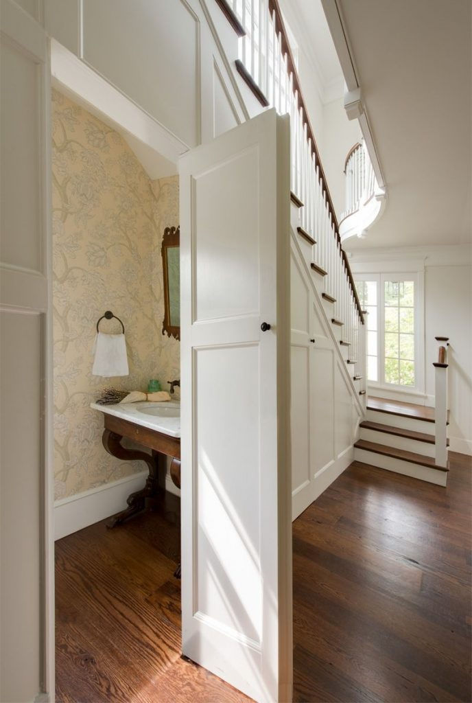 Under The Stairs Bathroom Entryway Pinterest House Powder