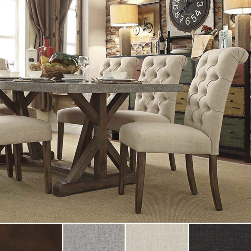 Unique Dining Room Upholstered Chairs Ideas With Leather Kitchen