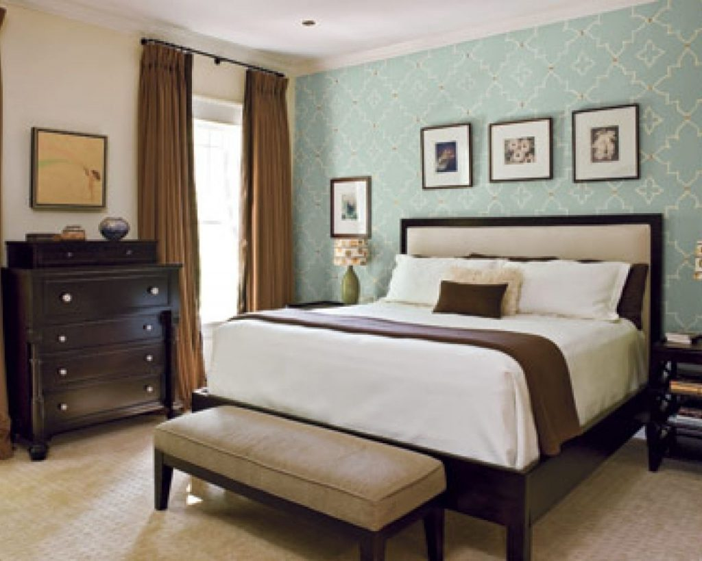 Upholstered Queen Headboard Accent Wall Bedroom Accent Wall Ideas