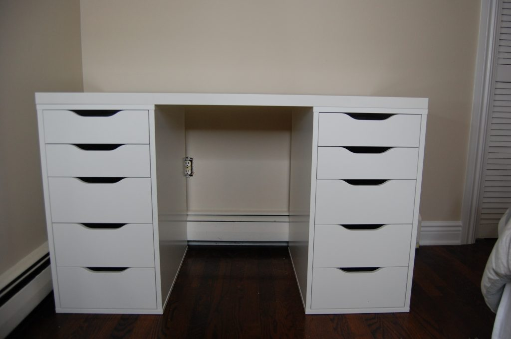 Vanity With Drawers Bedroom Luxurious White Makeup Vanity With