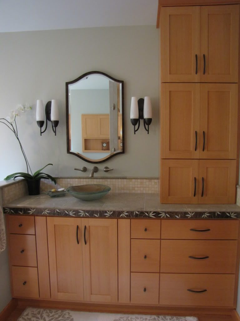 Vanity With Matching Linen Tower Vanity Ideas