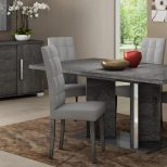 Venicia Grey Birch Collection Modern Dining Chair Grey Microfibre