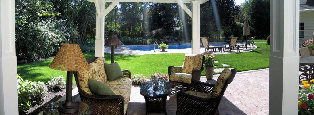 View From The Pavilion Looking Out At The Pool Wyckoff Nj Clc