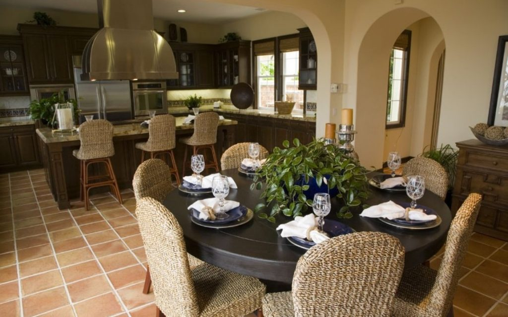 Villa Dining Room And Kitchen Design Decobizz