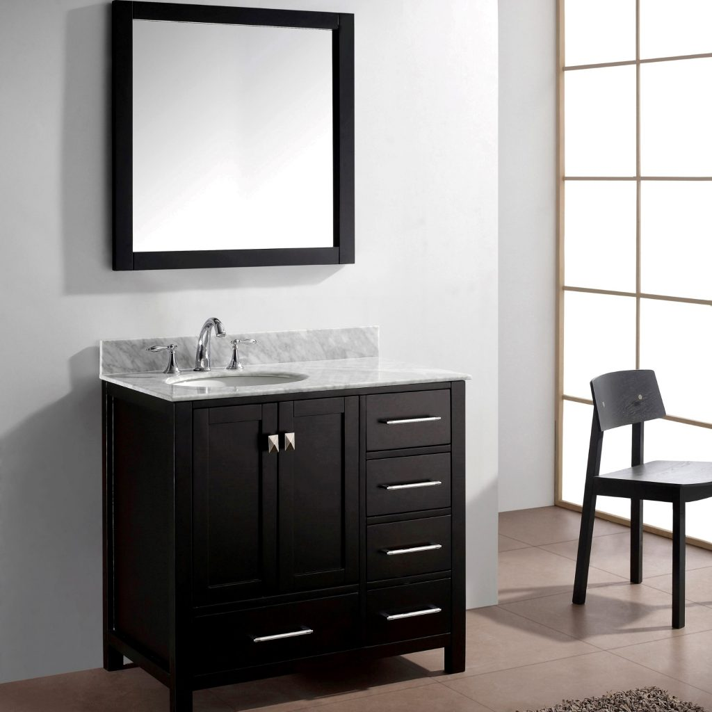 Virtu Usa Caroline Avenue 36 Single Bathroom Vanity Set In Espresso