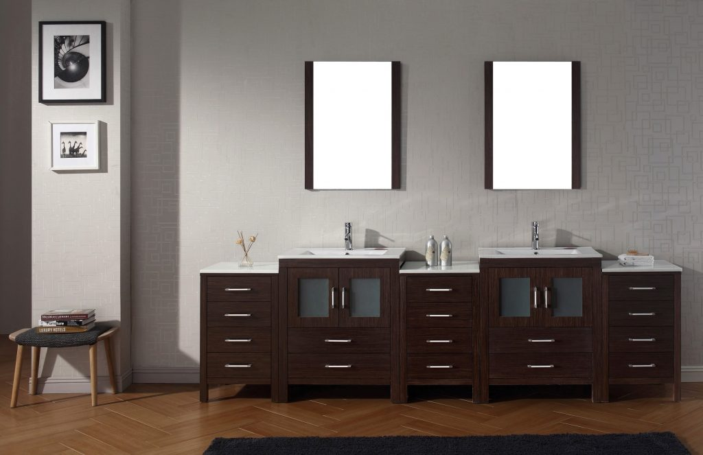 Virtu Usa Dior 109 Double Bathroom Vanity Set In Espresso Bathtubs