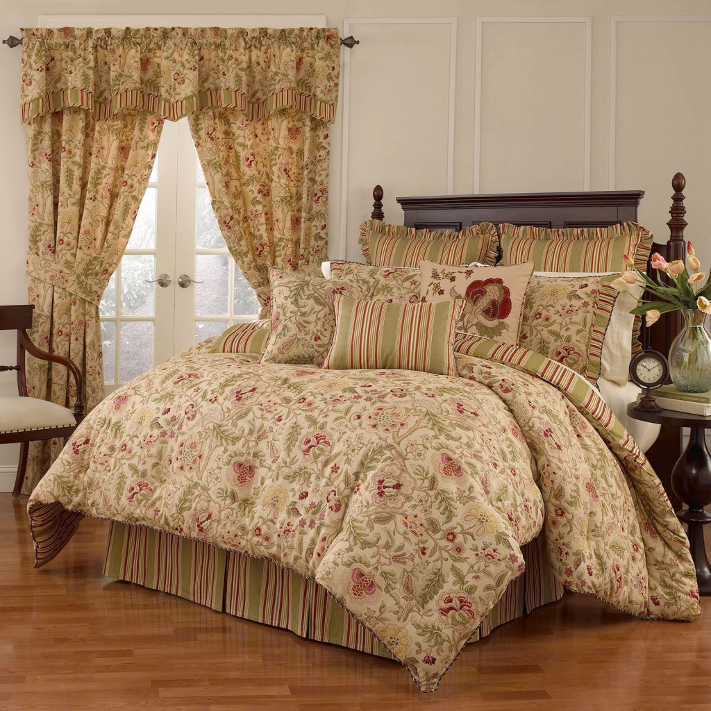 Waverly Imperial Dress Antique Four Piece Queen Comforter Set