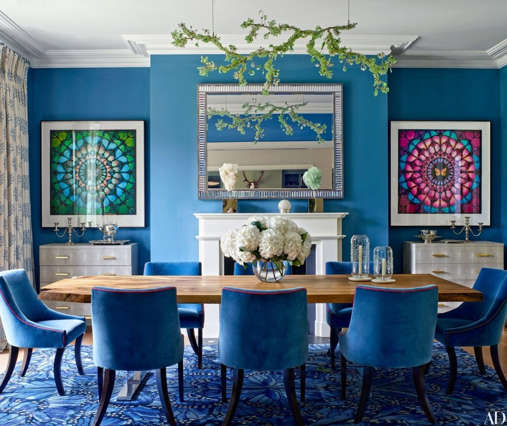 Whats Hot On Pinterest Keep Calm With These Blue Dining Rooms