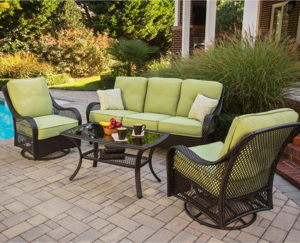 White Aluminum Outdoor Furniture Patio Loveseat Clearance Patio