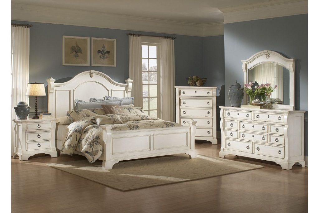 White Antique White King Bedroom Set At Bedroom Furniture Discounts